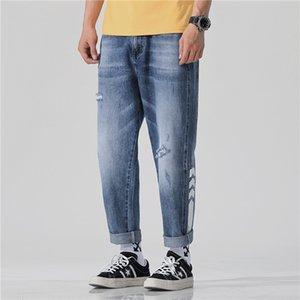 Vaqueros para hombres Estilo de primavera y verano de monos Pantalones casuales de nueve centavos Hip Hop sueltos MX190718