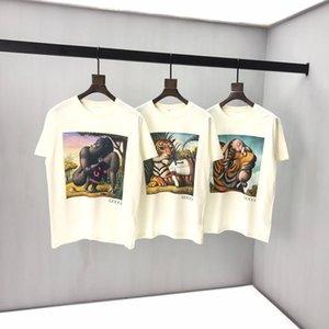 짧은 소매 라운드 넥 패널 T 셔츠 크기를 인쇄 봄과 여름 새로운 고급면 : m-L-XL-XXL-XXXL 색상 : 검정, 흰색 q948 남여