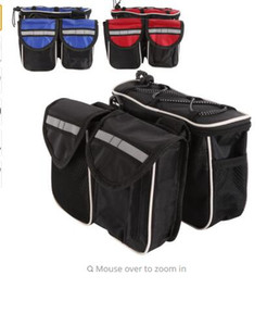 Stuff My Four Unity Front Bicycle Ride On Bike Tube Mountain Bag With Cover Aiwnu