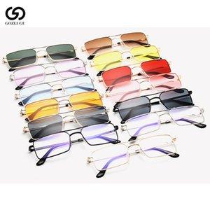 GOZLUGU Fashion thin narrow rectangular sunglasses ladies thin section sunglasses brand design 2020
