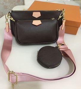 bolsos de moda bolsos de las mujeres preferidas de mini pochette 3pcs accesorios de Crossbody del vintag bolsas de hombro de cuero de varios colores correas de la cartera