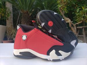 14 Gym Red Hommes de basket-ball concepteur espadrille 14s Noir Blanc Chaussures Hommes Sports Athlétiques Entraîneur 487471 006 avec la boîte
