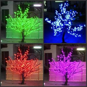 LED Lumière de Noël Fleur de cerisier Arbre d'ampoules LED de 1,5 m / 5 pi Hauteur intérieure ou extérieure utilisation Livraison gratuite Drop Shipping antipluie