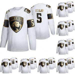 Florida Panthers Aaron Ekblad Golden Edition Jersey Keith Yandle Jonathan Huberdeau Aleksander Barkov Vincent Trocheck Sergei Bobrovsky