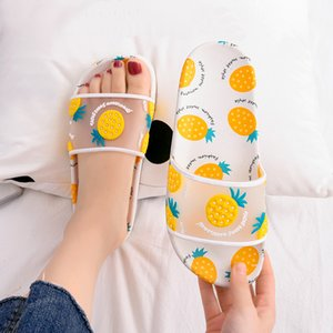 WEH pistoni di estate Donne diapositive Scarpe frutta del fumetto Fragola Ananas Peach Girl Infradito Sandali scorrere Beach diapositive