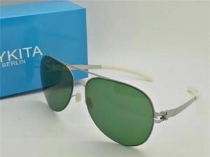 luxury-New mykita BO дизайнерские солнцезащитные очки для мужчин сверхлегкий сплав рамка памяти солнцезащитные очки для женщин прохладный открытый дизайн солнцезащитные очки