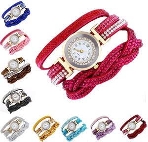 High Quality 10 Styles Fashion Rhinestone Watch Twine Bracelet Women Luxury Quartz Wrist Watches for Daily Accessories