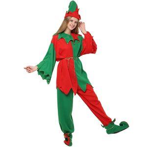 Elf Christmas Theme Vestido Womens Partido da família de Costume Suit estrelas de cinema Cosplay