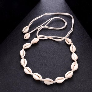 Bohemian Beach Tassel Necklace Natural Sea Shell Gargantilla Collar de cadena Collar Boho Mujeres Summer Beach Jewelry Shellhard