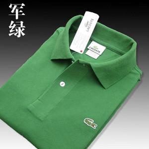 Высокое качество крокодиловая рубашка поло Мужские шорты из хлопка Поло Лето Повседневная футболка поло homme L01 Мужские рубашки поло Рубашки поло 01