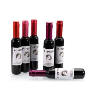 Popfeel Lip gloss bottiglia del vino rosso del rossetto trucco di alta qualità 6 colori Waterpoor Matte Lipgloss di lunga durata rossetto