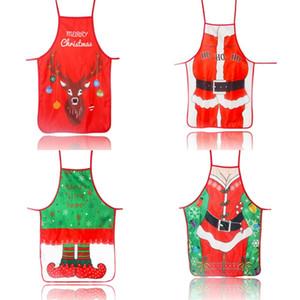 حك نسيج المئزر فن زخرفة عيد الميلاد المرايل لون الطباعة متعدد الألوان الكرتون نمط مهرجان ثوب جديد وصول 6MZ L1