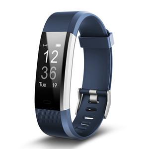 ID115PLUS GPS inteligente pulsera monitor de ritmo cardíaco a prueba de agua reloj elegante reloj de pulsera rastreador de ejercicios usable para IOS Android reloj teléfono