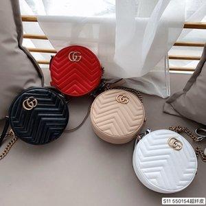 Designer-Taschen-Handtaschenfrauen berühmte Marken Umhängetasche Designer Luxus-Handtaschen Geldbörsen Kette Mode Umhängetasche Wellenmuster runde Kuchen