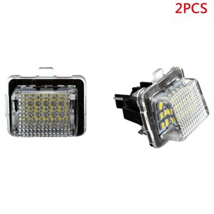2x Canbus LED Number Lick Plate Light For W216 W212 W221 Black