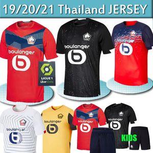 20 21 OSC Lille futbol formaları REMY FONTE BAMBA YAZICI futbol forması 2020 2021 Lille Olympique 75 JIKONE Bay Çocuk Seti üniformalar Tayland
