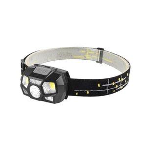 Светодиодные фары датчик движения Ультра-яркий шлем головной фонарь мощный прожектор USB аккумуляторная водонепроницаемый фары LJJZ435