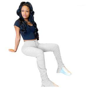 Брюки женские сексуальные тренировки тренировочный тренировочный тренажерный зал Леггинсы фитнес спортивные брюки спортивные брюки женские брюки штабелированные штабельные штабельные штаны женщины сплошной цвет сложены