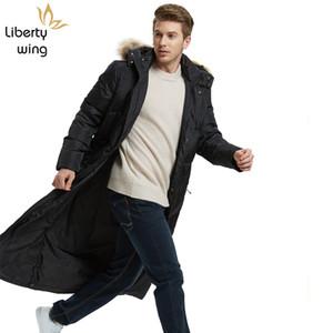 Nuovo Inverno Mens spessore caldo Parkas Moda Solid Capispalla con cappuccio maschile Business Casual lungo piumino più il formato S-5XL Coat