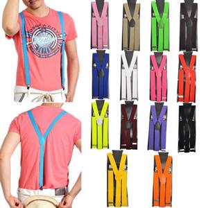 Pantalon réglable Y-retour élastique jarretelle Brace clip-ceinture Bretelles réglables Jarretelles Clip-on CCA12233 300pcs Suspenders