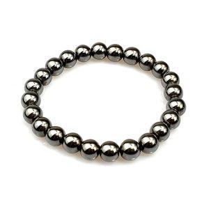 pulseira artesanal pedra, pulseira de hematite preto, pulseira de hematite grânulo, grânulos pulseiras, moda pulseira