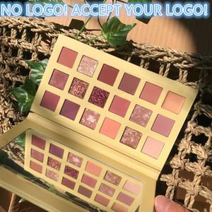 No Logo! 18 colori nuda Glitter ombretto opaco di luccichio ombretto Palette Lasting impermeabile ombra di occhio minerale accettare il vostro logo