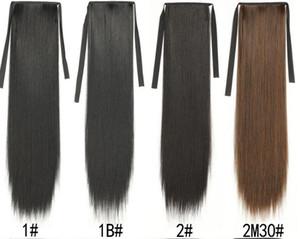 Fashion long straight hair ponytail wholesale women's false ponytail multicolor binding wg piece ponytail discrimination f