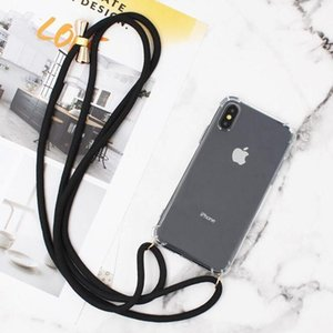 Transparent Clear Phone Case Crossbody Necklace Cord Lanyards With Rope For iphone 6 6S 7 8 Plus X XR XS 11 Pro Max Cover