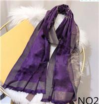 Nueva seda de la manera caliente de la bufanda mujeres de la venta del mantón bufandas Tamaño 180x70cm Color 6