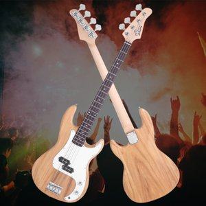New Exquisite 4-String Electric Bass Guitar Kit with Tools and Case Ship from USA Burning Fire Style