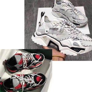 2019 SS Triple S Strike Sneakers Lace-Up Malha Superior Oversized Greve Sapatilha Sapatos de desporto Das Mulheres Dos Homens Velho Do Paizinho Sapatos Casuais sapatos casuais