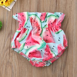 Pudcoco 2018 New Baby Girl Cotton Watermelon Print Shorts Bloomers Panties