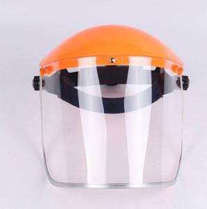 Seguridad máscara protectora ajustable montado en la cabeza de la pantalla protector del ojo de la cara de pulido Anti-Aceite-Escupir Splash Proof Máscara En existencia