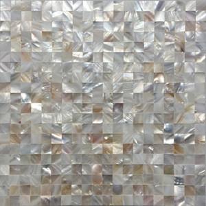 inci çini mutfak backsplash MOP19024 doğal kabuk mozaik banyo duvar karo Sorunsuz Beyaz annesi