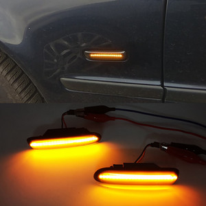 For BMW 3 Series E46 Sedan Coupe Wagon Convertible 1997-2001 Led Dynamic Turn Signal Light Side Fender Marker Sequential Lamp