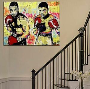 Alec Monopoly Banksy Pintados À Mão Pintura A Óleo Da Arte Na Lona Home Decor Wall Art Imagem Graffiti art Boxers Ali Tyson