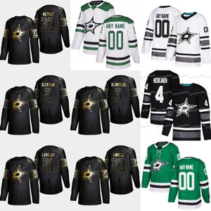 Golden Edition 2019 Dallas Stars 33 Marc Methot 23 Esa Lindell 21 Ben Lovejoy 3 Maillot de hockey John Klingberg 2 Jamie Oleksiak