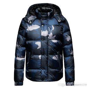2019 Winter Down Jacket New Camouflage Coat Zipper Mens Clothes Male Mens Designer Jackets Windbreaker Sweatshirt Hoodie Large Size M-2XL