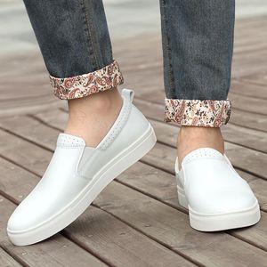 Подлинная обувь Кожа Мужская обувь с шипами мокасины мужские Casual Summer Boat Driving Loafer Мокасины Размер 48 Мужские Мокасины *