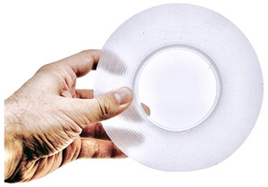 Double Sided Adhesive Tape,Secure Anything The Reusable Adhesive Silicone Tape, Multi-Functional Anti-Slip Double Sided Sticky Strips, Clear