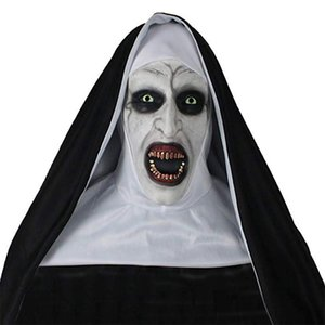 Chapellerie masques effrayants Halloween Terror maquillage cosplay Nun Tricky Grimace Thriller Effrayant Latex Facemask usine 41qs p1