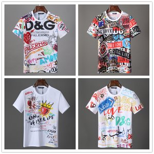 Erkekler Mektupları Tasarımcı Hip Hop Gömlek Kısa Kollu Tişört Mens ile Tops için İtalyan erkek 2020 lüks tasarımcı giysi Yaz T Shirt baskılı