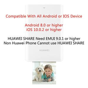 Stampante AR 300 dpi Stampante fotografica portatile originale Huawei Zink Stampante Honor Pocket Bluetooth 4.1 Supporto DIY Share 500mAh