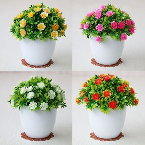Artificial vaso de plantas Plant Simulation Flower Ball Grama falsificada da flor do casamento Home Decor Garden Hotel Decor Bonsai