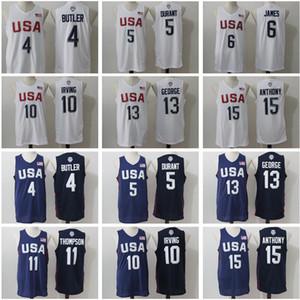 Man 2016 США Джерси Dream Team Баскетбол 4 Джимми Батлер 5 Дюрант 6 Леброн Джеймс 10 Ирвинг Пол Джордж Кармело Энтони