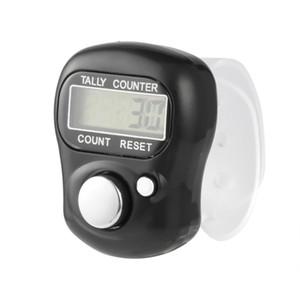 Цифровой мини LCD электронной цифровой гольф Finger ручной кольцо Tally счетчик Handheld Рука Tally Counterter Silver
