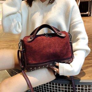 PU face Studs senhoras bolsa Zip tridimensional de um ombro Crossbody Bag superfície macia Pure Color Horizontal Praça Bag