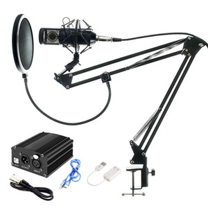 Full Set Mikrofon Professionelle BM800 Kondensator KTV Mikrofon Pro Audio Studio Vocal Recording Mic + Metall Shock Berg