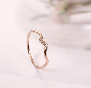 C-15 Titanium steel ring New men and women cross-border e-commerce rose gold couple accessories Stainless steel ring jewelry wholesale