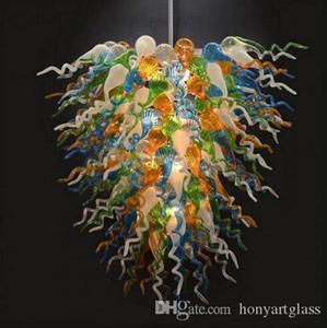 Цветные дутого стекла Свет Уникальный современный дизайн Главная Лампы Мебель для гостиной Dining Room Murano Люстра